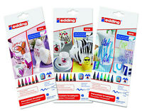 Edding 4200 Porcelain Brush Pens Oven Bake Marker Pen Sets - Three Colour Sets