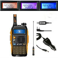 Baofeng GT-3TP MarkIII 1/4/8Watt 2m/70cm Band V/UHF Ham Two-way Radio + Cable&CD
