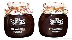 MRS. BRIDGES of SCOTLAND, SET OF 2 JARS, SCOTTISH STRAWBERRY PRESERVES, IMPORTED