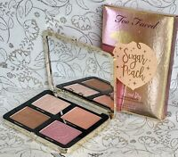 Too Faced Sugar Peach Wet and Dry Face & Eye Shadow Palette Highlighter Blush