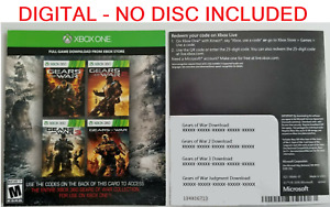Gears of war Collection (1,2,3,Judgement) Xbox 360 / Xbox One / Series X