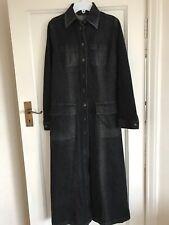 Ladies M&S Autograph Black Dark Grey Denim Coat/Long Jacket Size 10