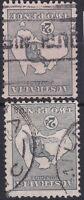 K1115) Australia 1915 2d Deep grey, Grey, Slate & Silver-grey Die I 3rd wmk. Kan