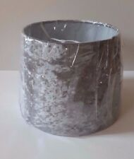 NEW SILVER GREY CRUSHED VELVET LAMPSHADE 9'' LIGHTSHADE LIGHT CEILING LAMP SHADE