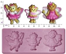 Fairy / TEDDY BEARS MEDIUM Craft SUGARCRAFT FIMO SCULPEY silicone stampo in gomma