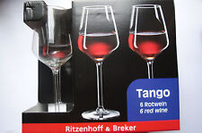 6x Rotweinglas Ritzenhoff & Breker R&B Tango 38 cl Weinglas 6 Stück Neu OVP