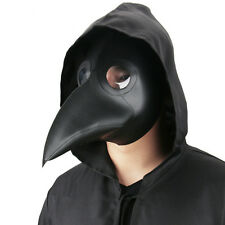Faux Leather Plague Doctor Mask Halloween Cosplay Costume for Adult