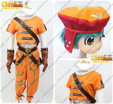 Kite from .hack cosplay costume orange outfit with hat