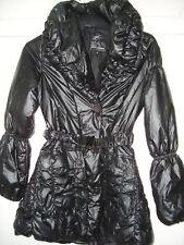 QED LONDON LADIES BLACK PADDED PUFFER PARKA COAT SIZE 8