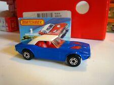 Vintage Matchbox Lesney #1 Dodge Challenger Blue Superfast toy car w box