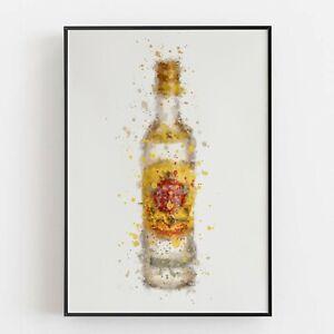 P0097 | Rum Bottle | Wall Art Print | Poster | Liquor | Bar | Pub | Restaurant