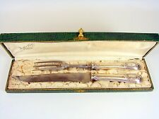 Service à Découper Gigot, Argent Massif XIX° Décor Louis XVI, Boîte