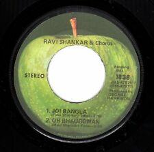 "Beatles (Ravi Shankar) ""Joi Bangla"" 1971 US Apple Jacksonville Stock Copy 45"