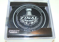 2015 Stanley Cup Finals Game Six Puck Chicago Blackhawks NHL Tampa Bay Lightning
