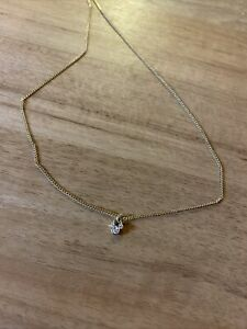 Official Disney Dainty Necklace, Crystal Mickey Mouse pendant, Gold, Brand New