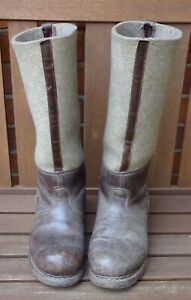 original Paar  Stiefel Marschstiefel Winter Filz Polizei