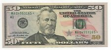 2013 $50 Dollar Bill STAR Note, Federal Reserve Note, uncirculated MA04553165*