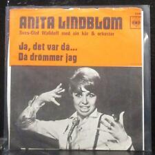 """Anita Lindblom - Ja, Det Var Då / Då Drömmer Jag 7"""" VG+ Vinyl 45 CBS Sweden 1968"""