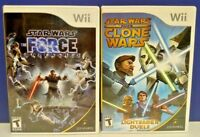 Star Wars Clone Wars + Force Unleashed - Nintendo Wii / Wii U Game Lot  Tested