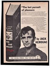"1957 Jack Kerouac ""On The Road"" Book Release Reproduction Print Advertisement"