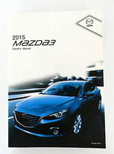 2015 Mazda 3 Owners Manual Parts Service New Original Car Automobile