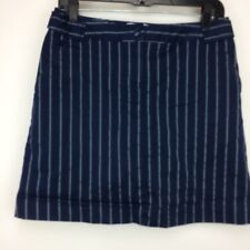 Lily's of Beverly Hills Women's Lined Tennis/Golf Skort Sz/ 6 Blue/White Striped