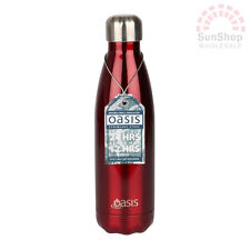 D.Line Oasis 18/8 S/S Double Wall Insulated Water Drink Bottle 500ml Red!