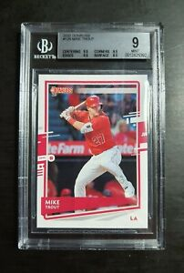 2020 DONRUSS BASEBALL ⚾️ MIKE TROUT BGS 9  FRESHLY GRADED AND READY TO DISPLAY.