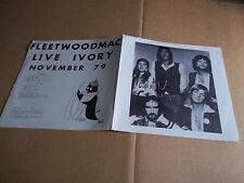 Fleetwood Mac – Live Ivory November 79 rare live LP Not Tmoq NM