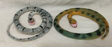 LOT OF SNAKES - posable large & many thick, heavy, china