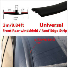 10ft 3m Rubber Seal Car Front Rear Windshield Sunroof Dustproof Edge Strip Trim