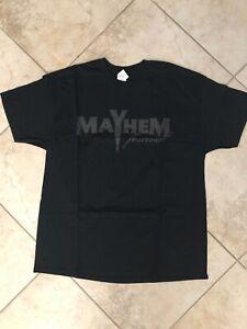 Official Mayhem Festival Logo Tee Shirt XL BLACK OOP - UNWORN