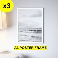 3x A3 White Picture Frame Photo Frame Poster Frame with styrene sheet as glass