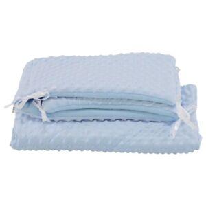 2pc Dimple Crib/Cradle Set Quilt & Bumper Bedding Set - Blue