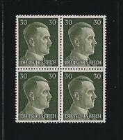 MNH stamp block / Adolph Hitler / PF30 / WWII Germany / 1941 Third Reich issue