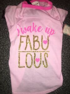 Wag A Tude Wake Up Fabulous Tshirt Medium
