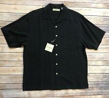 Eagle Dry Goods NWT Black 100% Silk Camp Shirt Machine Washable Sz Medium