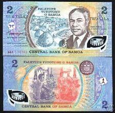 Western SAMOA 2 Tala P31 1990 1st COMMEMORATIVE POLYMER *AAK Prefix UNC BANKNOTE