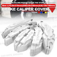 6x BK Style 3D Brake Caliper Cover Disc Universal Car L+M+S Front Rear Kit LW01