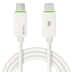 Cavo 100cm USB type-C a USB-C 3.1 PD LEITZ per Sony Xperia 10 III LPD3