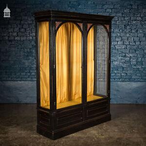 19th C Ebonsided Mahogany Glazed Display Cabinet