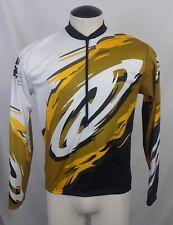 Vintage NO FEAR Bike Cycling Jersey 3 4 Zip Long Sleeve Men s L Yellow   c6c0da79e