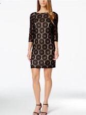 Jessica Howard Evening Cocktail Knee Length Dress Black 14 XL $89 NWT