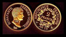 ★★ COPIE PL. OR DE LA RARE 2 FRANCS AN 12 K BORDEAUX PREMIER CONSUL ★★  FDC