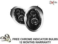 BMW MINI 01-06 R50 R52 53 BLACK LED R8 PROJECTOR DRL & HALO ANGEL EYE HEADLIGHTS