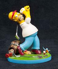 Simpsons Misadventures Homer Big Duffer Golfing Hamilton Collection Sculpture