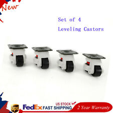 Gd 80f Set Of 4 Leveling Casters High Wearability Low Noise 22011002200lbs