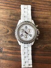 JPM Techno White Chronograph Ceramic Diamond Watch
