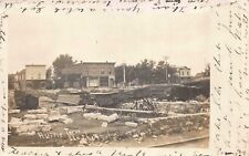 Real Photo Postcard Building Ruins from Fire in Wesley, Iowa~114298