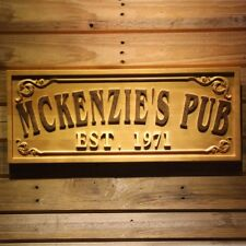 wpa0353 Name Personalized PUB Bar Home Bar Gifts Wood Engraved Wooden Sign